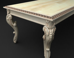 3d baroque table