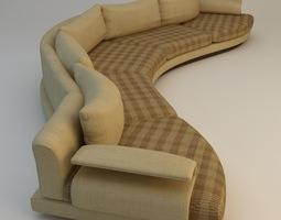 curvy sofa 3d