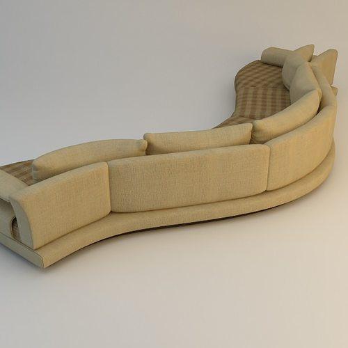 ... Curvy Sofa 3d Model Max Obj 3ds Fbx Mtl 3 ...
