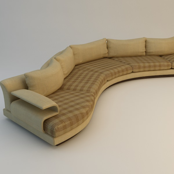 Lovely Curvy Sofa Cgtrader