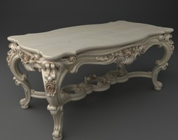 Elegant Baroque Table 3D Model