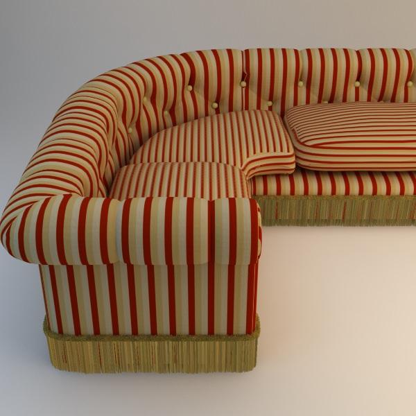 ... Striped Corner Sofa 3d Model Max Obj Fbx Mtl 2 ...