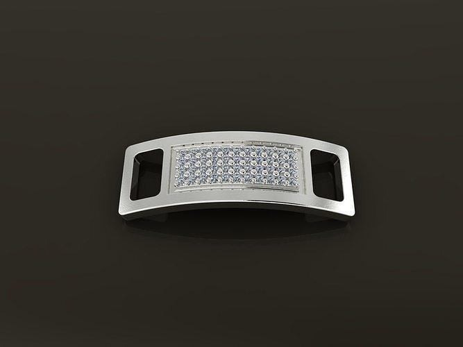 LACE LOCK DIAMOND CLUSTER CLIP TAG 1mm20