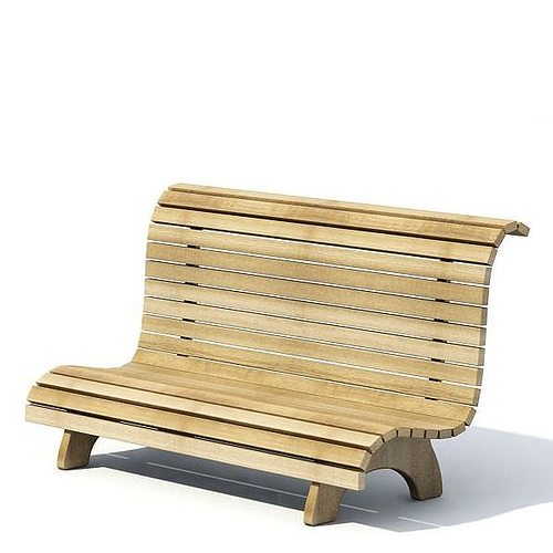 wooden garden bench 3d model. Black Bedroom Furniture Sets. Home Design Ideas