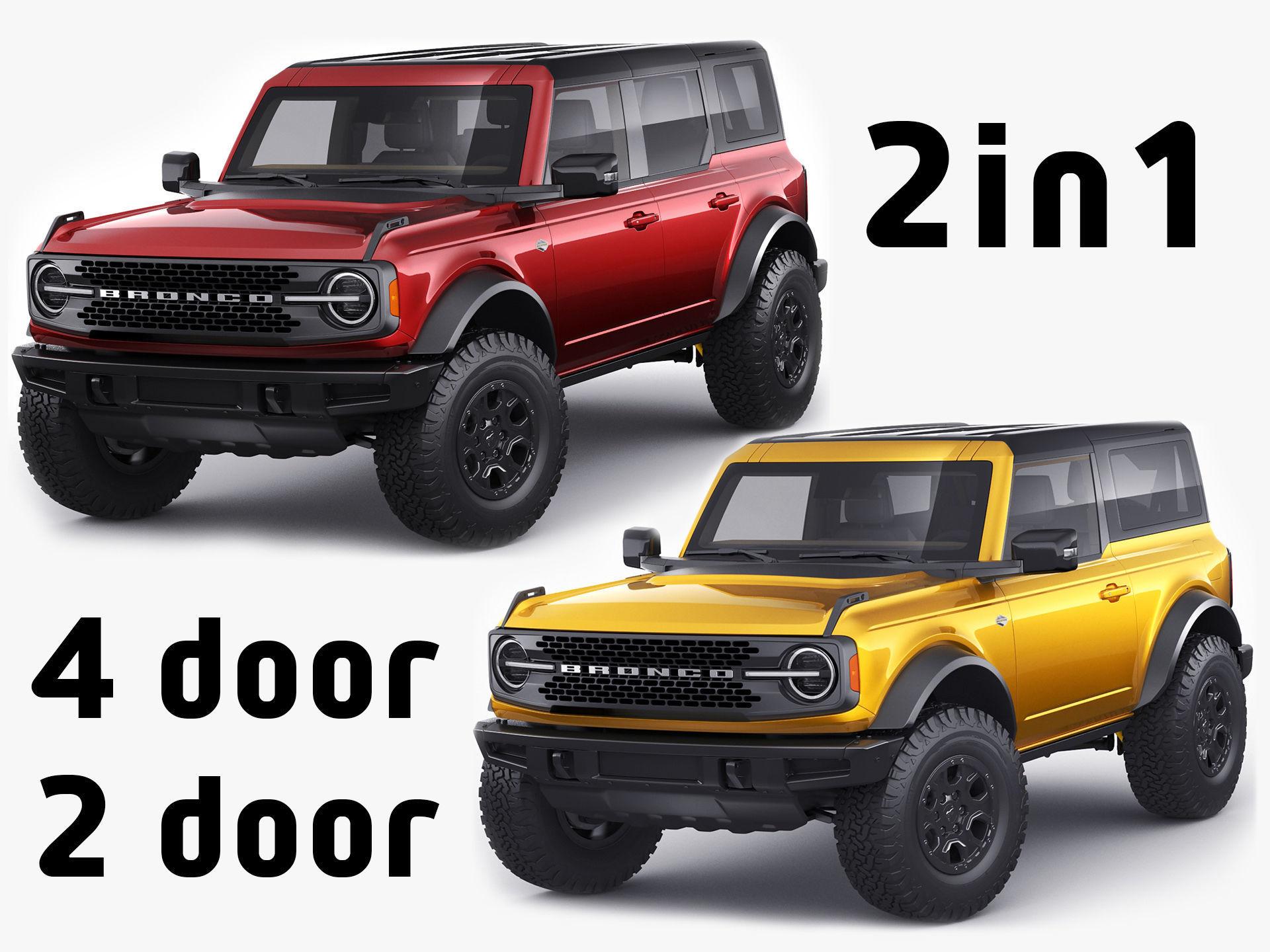 Bronco 2021 4-door and 2-door