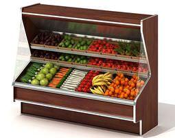 Grocery Produce Shelves 3D