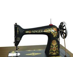 singer sewing machine 3d