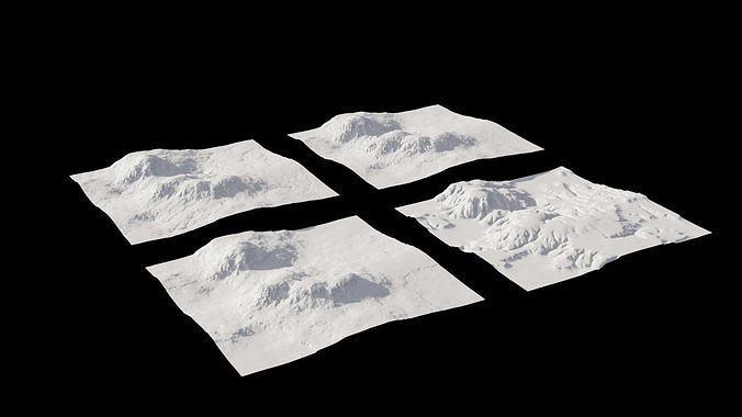 4 Landscape 3D models