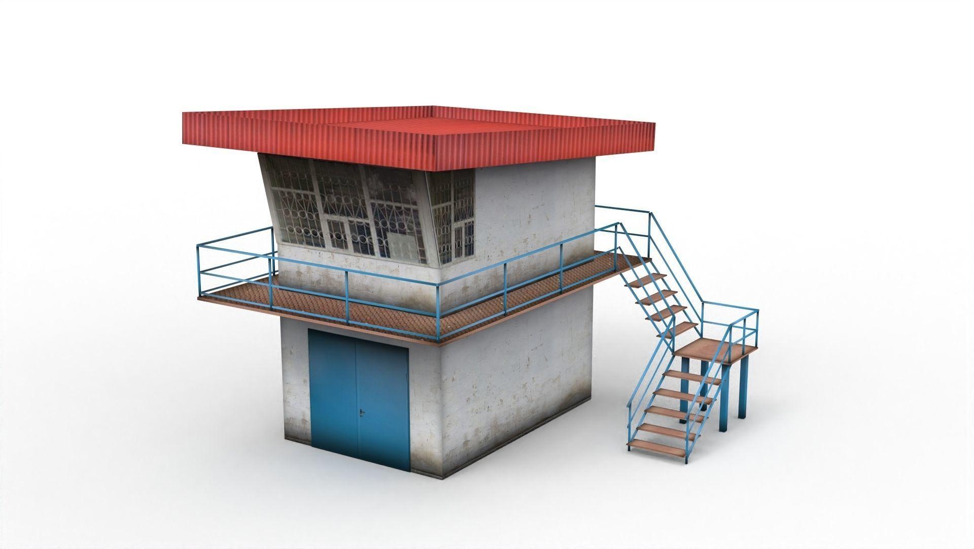 3D model Police post | CGTrader