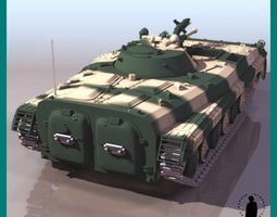 BMP-1 ARMORED VEHICLE 3D Model