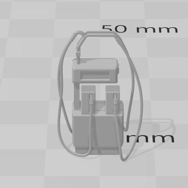 GARAGE FUEL PUMP 4MM SCALE OO HO GAUGE MODEL RAILWAY