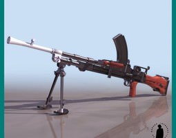 .303 BREN MK1 LIGHT MACHINE GUN 3D Model