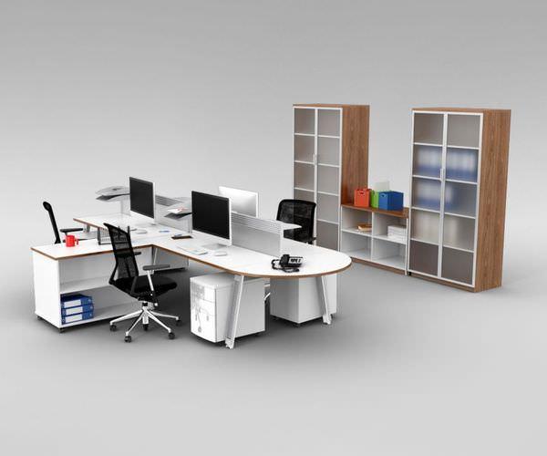 Office Furniture Set3D model