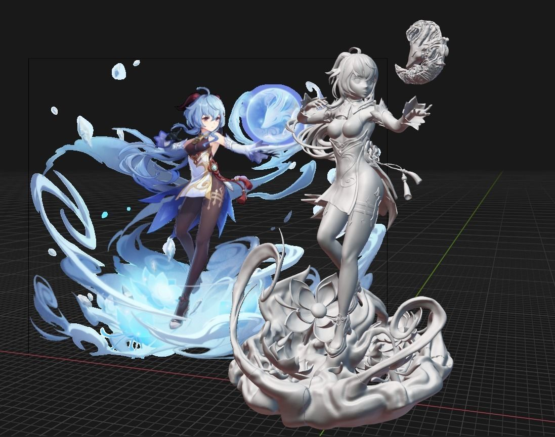 Ganyu from Genshin Impact - Sculpture for 3D printing