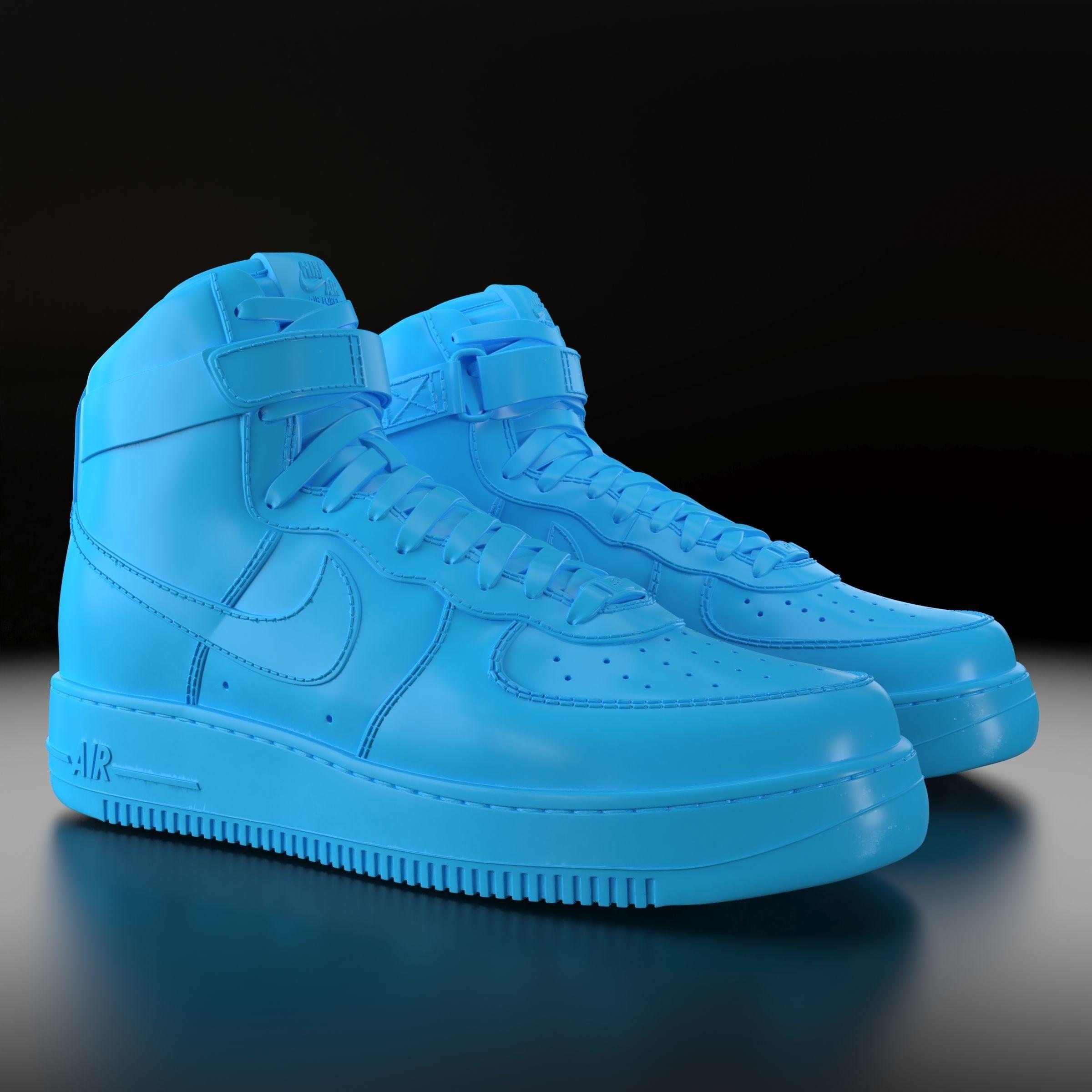 3D printable model Nike Air Force 1 High   CGTrader