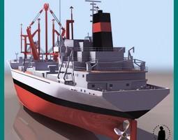 BAHRAIN CARGO SHIP 3D Model