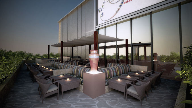3d alpasha project restaurant 3d model max 1