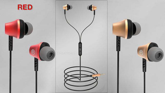 Wired Earphone 3d model product