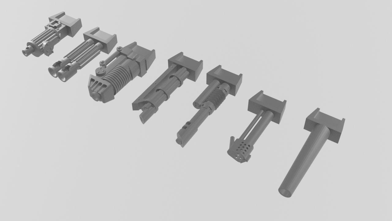 Diesel age style sponson guns pack