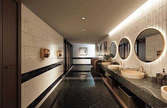 The Hotel Restrooms Design