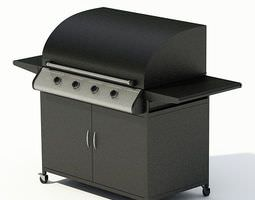 outdoor black grill 3d