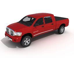 3d model car   dodge ram 2500 red