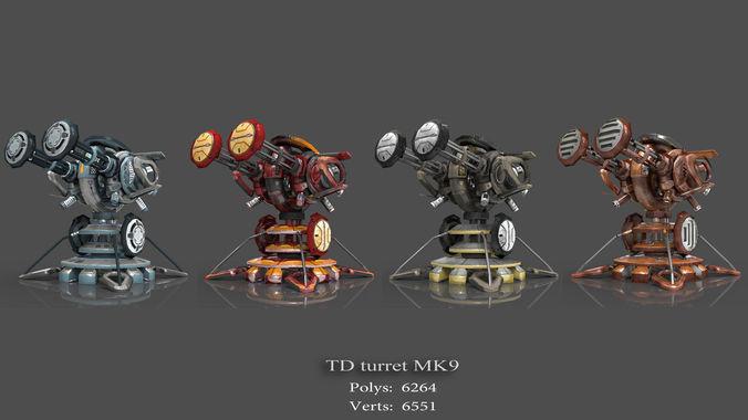 tower defense pack 3d model low-poly max obj fbx mtl tga 22