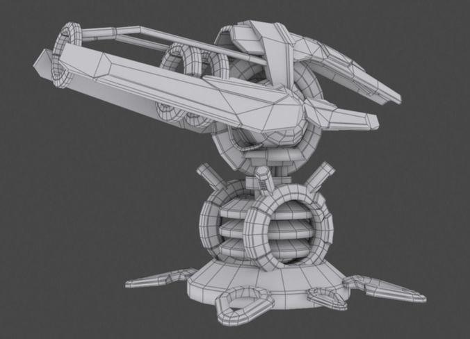 tower defense pack 3d model low-poly max obj fbx mtl tga 41