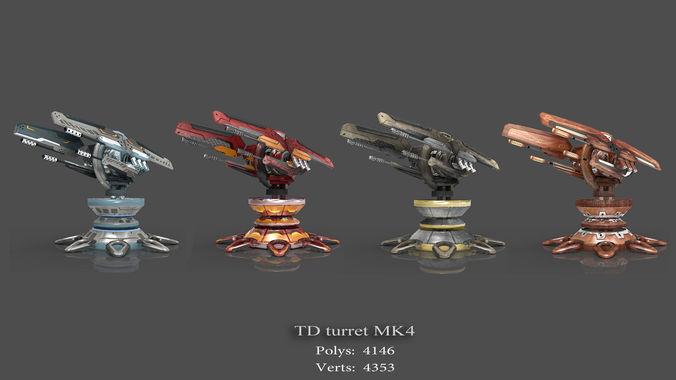 tower defense pack 3d model low-poly max obj fbx mtl tga 14
