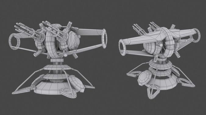 tower defense pack 3d model low-poly max obj fbx mtl tga 39