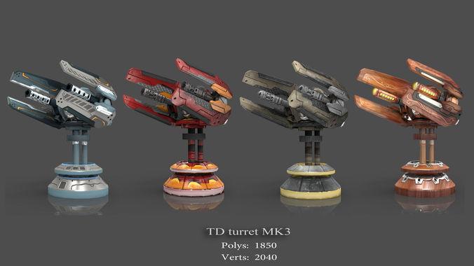 tower defense pack 3d model low-poly max obj fbx mtl tga 21