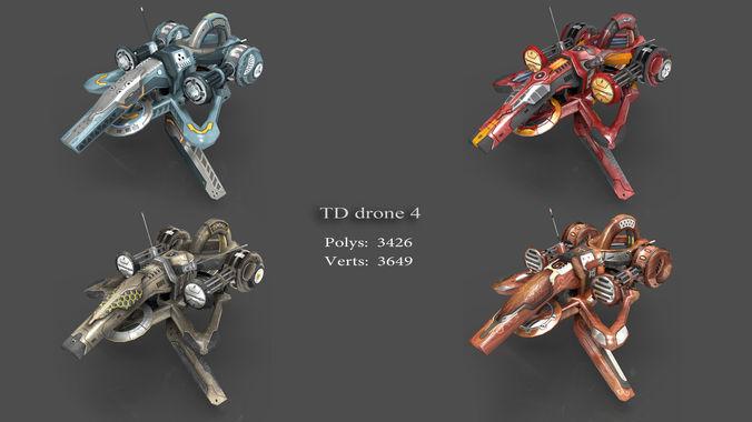 tower defense pack 3d model low-poly max obj fbx mtl tga 8