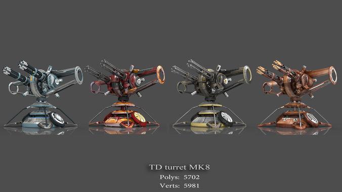 tower defense pack 3d model low-poly max obj fbx mtl tga 15