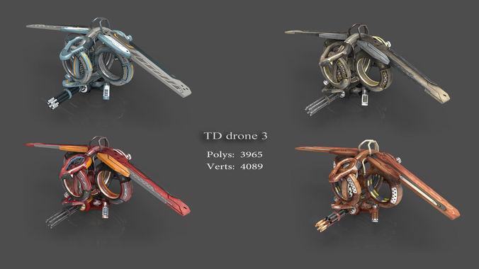 tower defense pack 3d model low-poly max obj fbx mtl tga 7