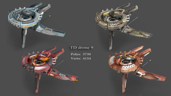tower defense pack 3d model low-poly max obj fbx mtl tga 13