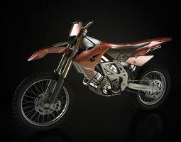 Red Dirt Bike 3D model