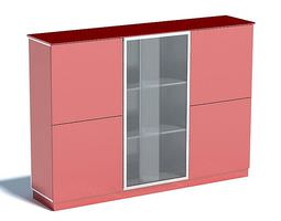 Red Display Shelf 3D model