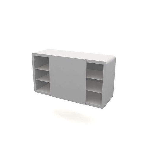 Modern Simple White Shelf 3D