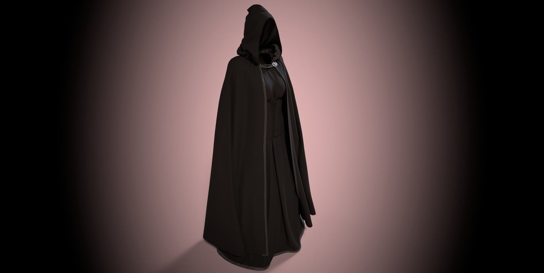 Dark Cloak with Corset