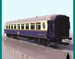 TRAIN COACH 2ND CLASS WAGON 3D Model