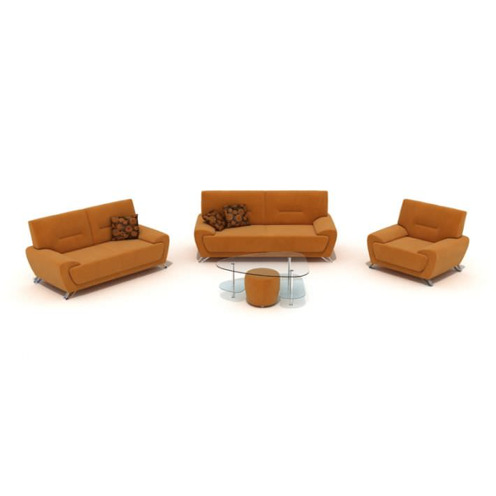 Living room furniture two ginger couches c 3d model for New model living room furniture