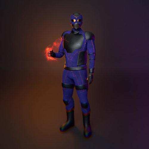 Superhero 3D model