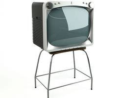 Old Fashioned Tv 3D