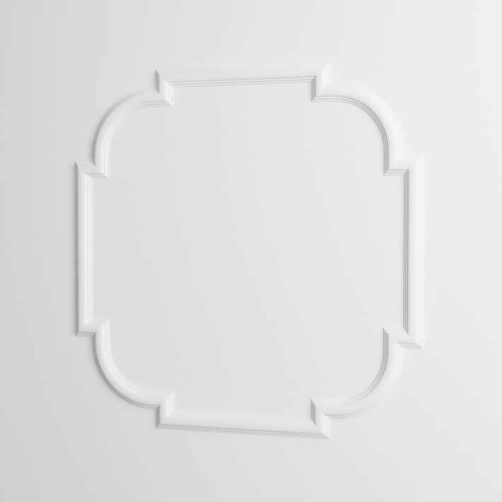 White wall molding decor 3d model obj for Advanced molding and decoration