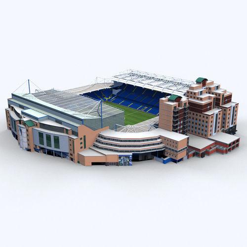 stamford bridge stadium 3d model max obj mtl 3ds fbx c4d ma mb 1