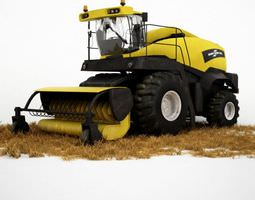 3d tractor harvester