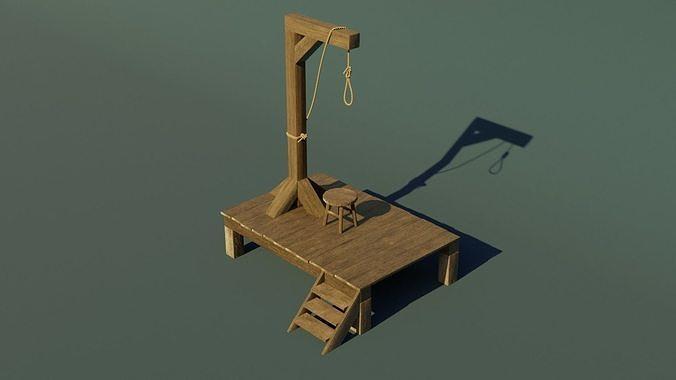 Wooden gallows