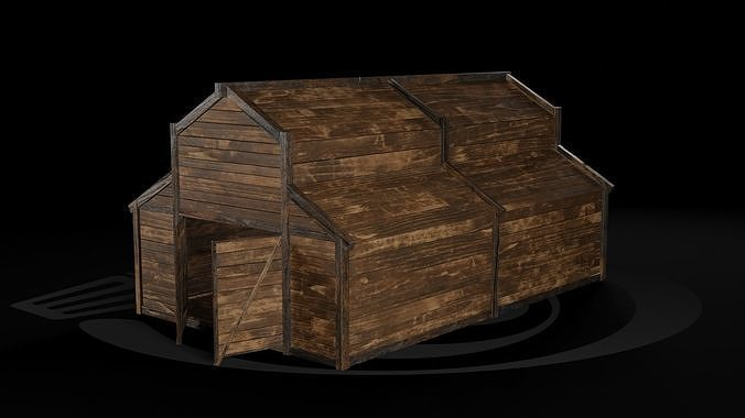 AAA Wooden Enterable Medieval Primal Warehouse 02 R