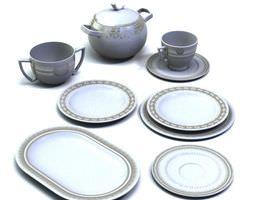 Teapot Set With Plates 3D model