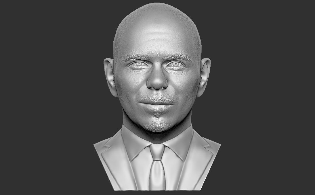 Pitbull bust 3D printing ready stl obj formats
